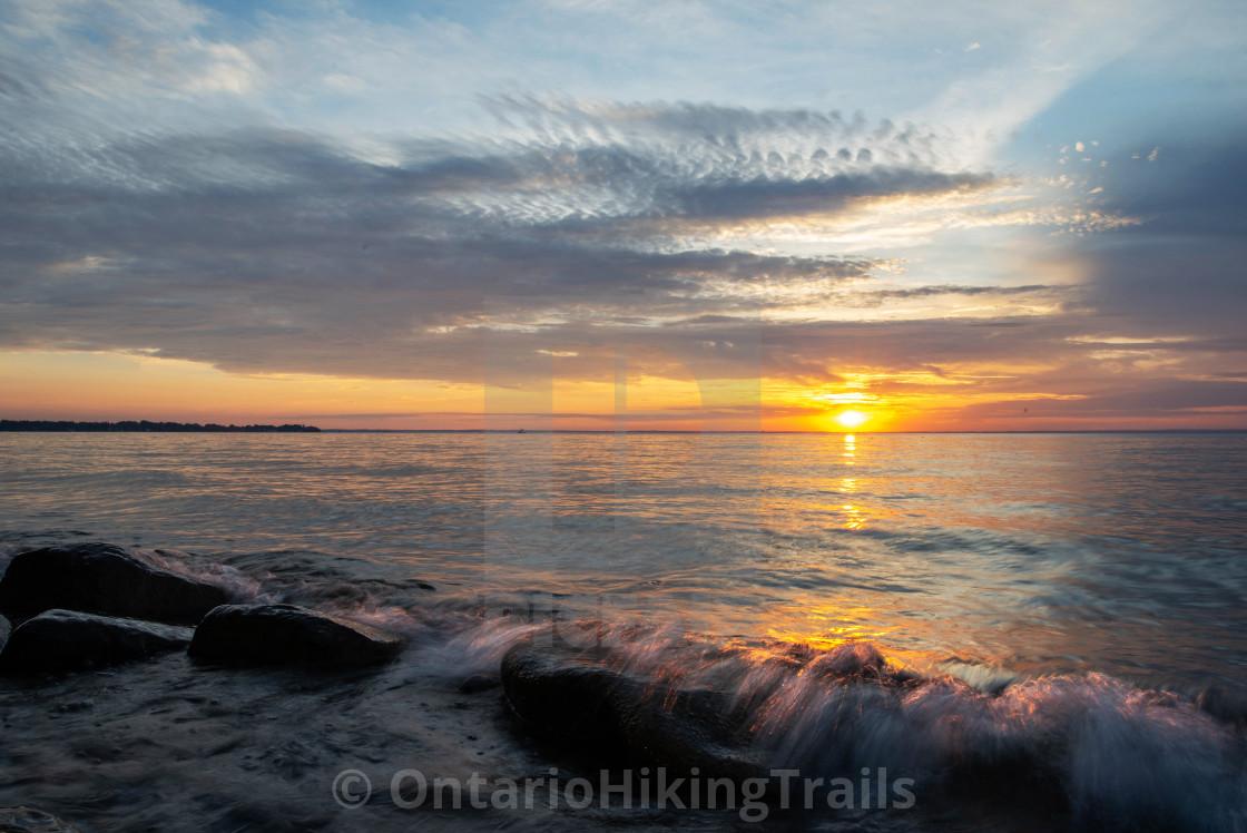 """Sibbald Pt Sunset 2"" stock image"