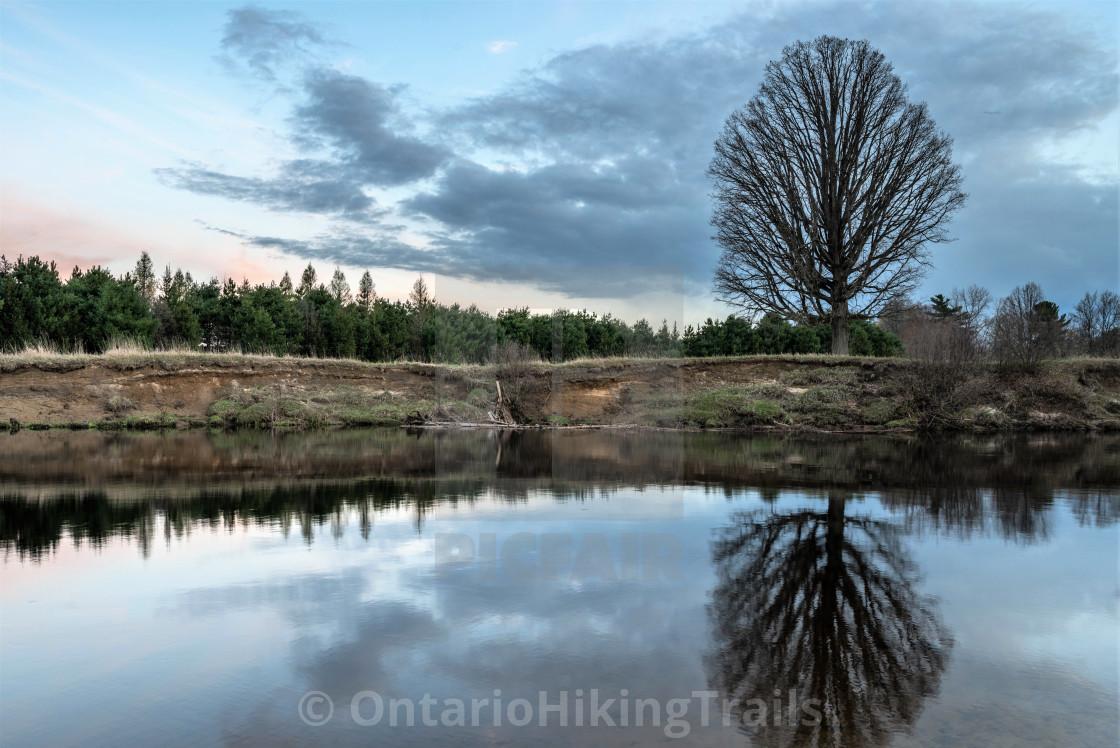 """Burnt River Ontario"" stock image"