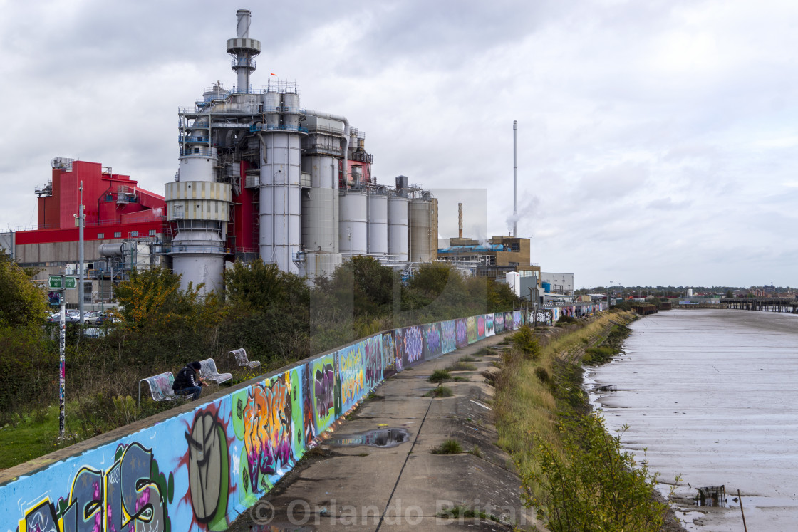 """Chemical Plant - Thames Estuary"" stock image"
