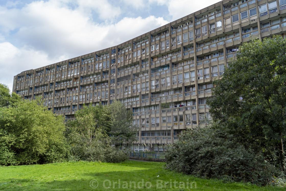 """""""Robin Hood Gardens - Brutalist Housing Estate"""" stock image"""
