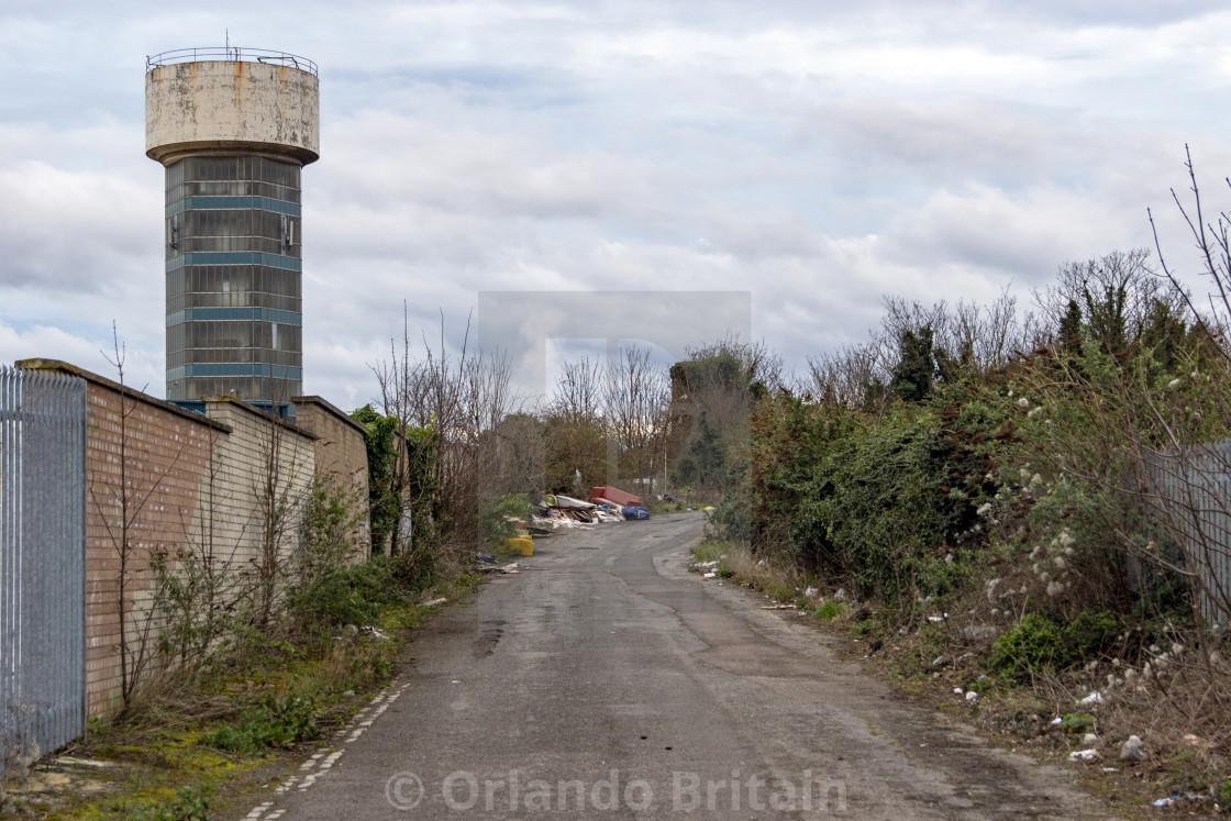 """""""Kimberly Clark Water Tower - Northfleet"""" stock image"""
