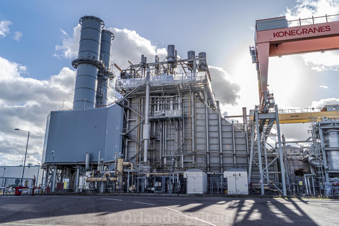"""Power Station - Coryton"" stock image"
