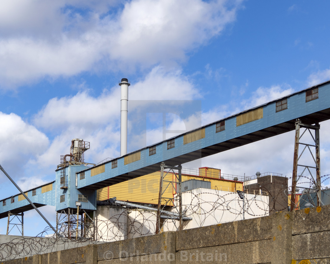 """Industrial Skyline - Tilbury"" stock image"