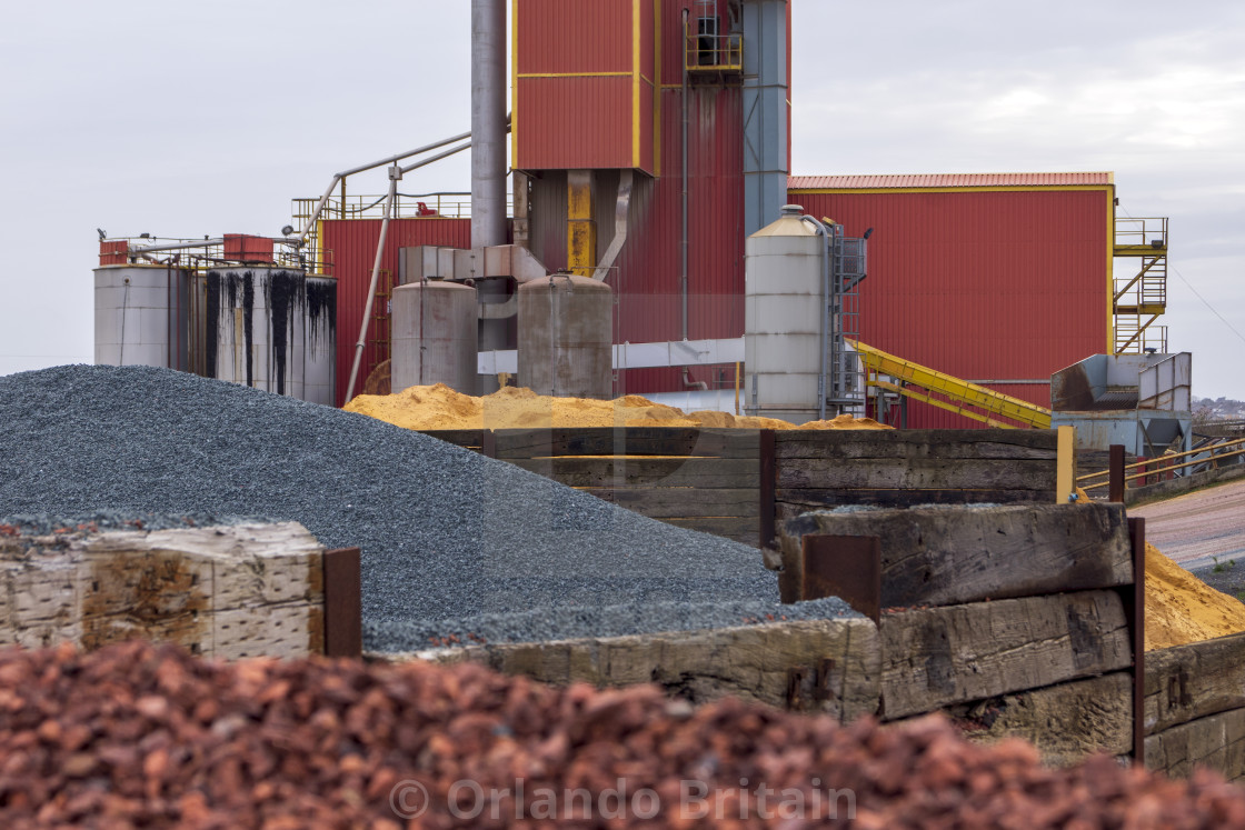 """Coloured Aggregate - Asphalt Plant Erith"" stock image"