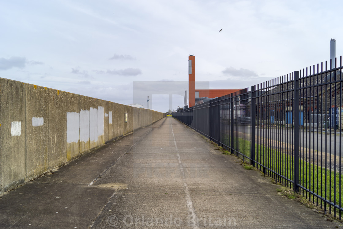 """""""Thames Path - Crossness"""" stock image"""