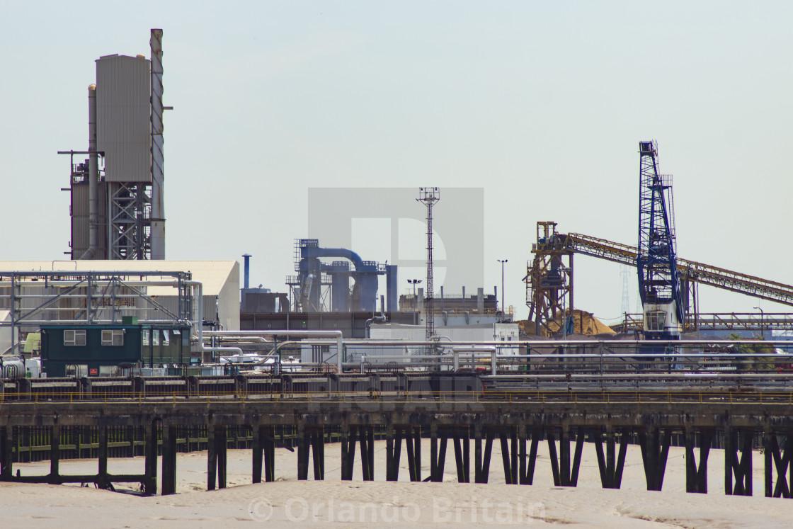"""""""Industrial Landscape - River Thames"""" stock image"""