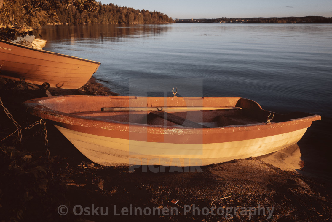 """Rowing Boat In The Sunlight I"" stock image"
