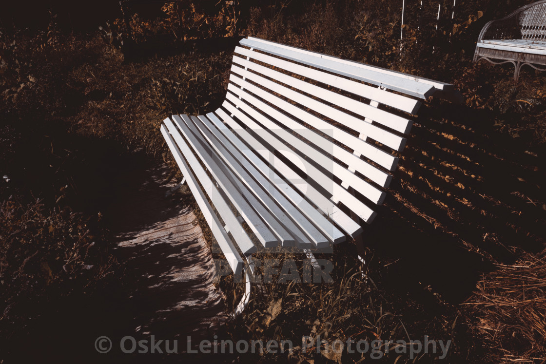 """Garden Bench II"" stock image"