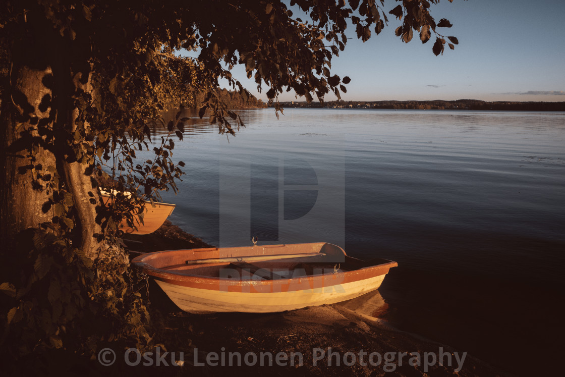 """Rowing Boat In The Sunlight II"" stock image"
