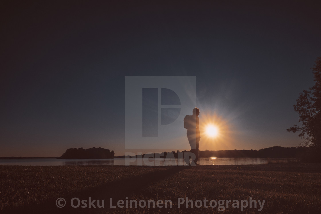 """Next To Sun I (Walking)"" stock image"