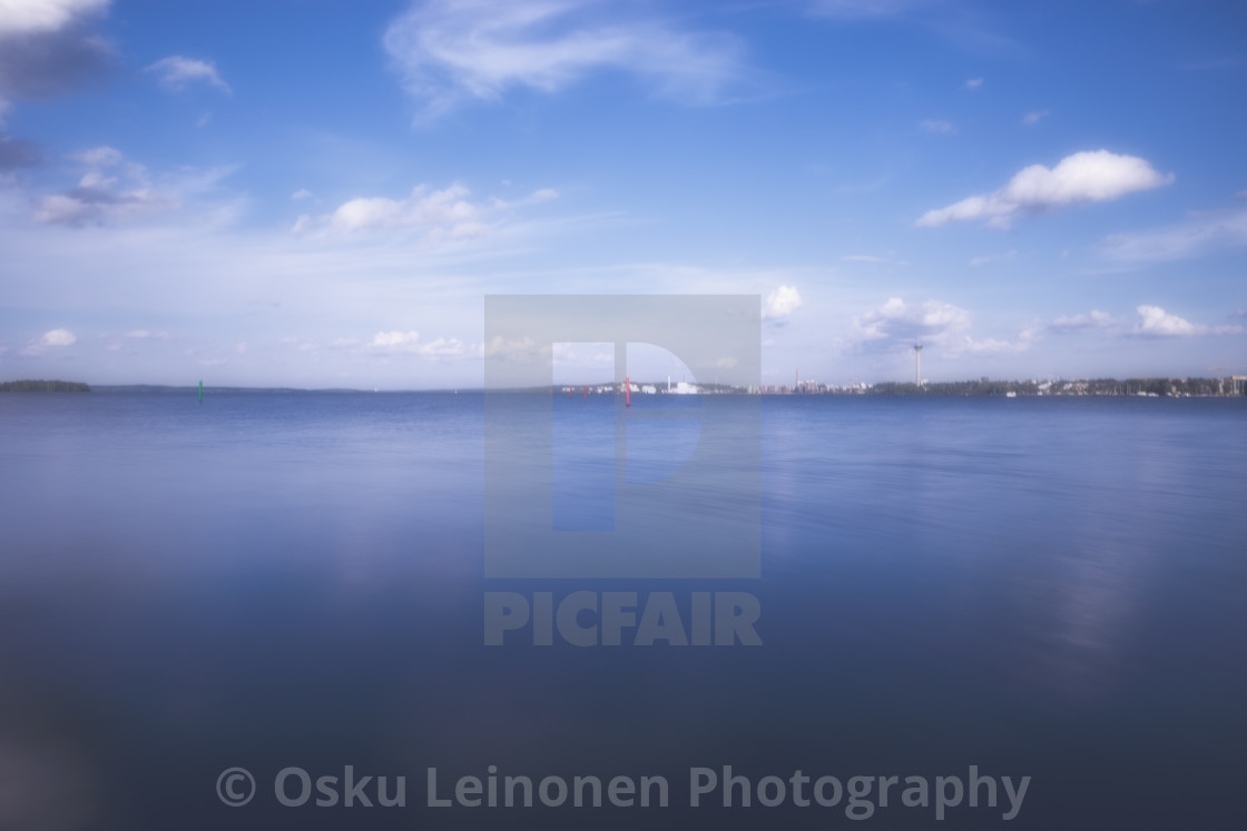 """""""Reflection Of The Clouds II"""" stock image"""