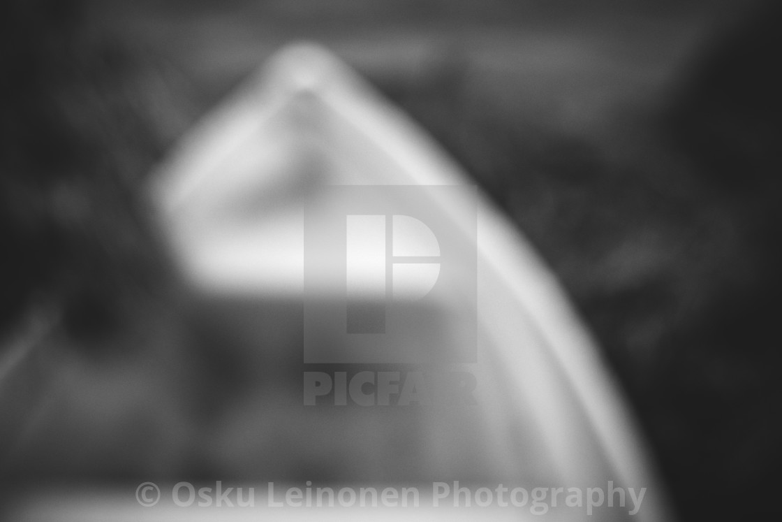 """Dreamy View VIII (Rowing Boat)"" stock image"