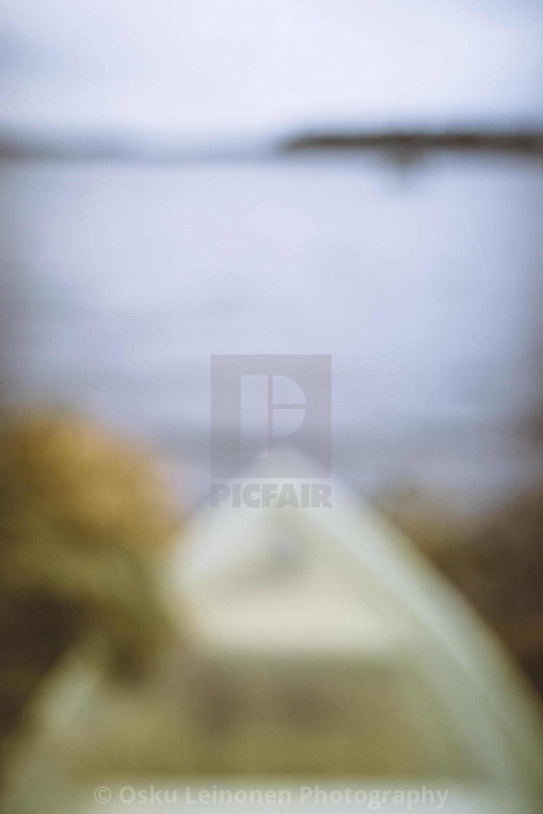 """Dreamy View IX (Rowing Boat)"" stock image"