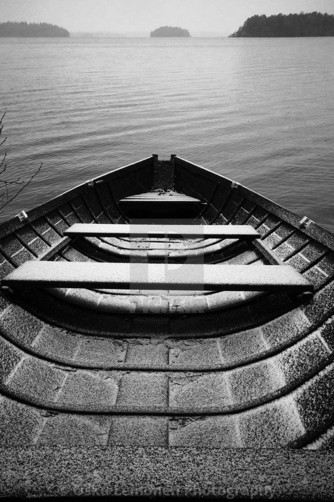 """Waiting For An Adventure I (Wooden Rowing Boat)"" stock image"