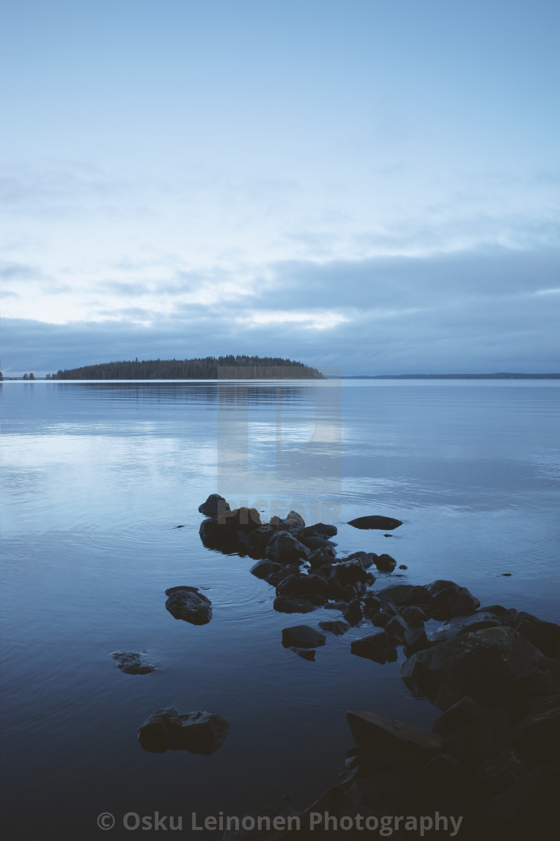 """Serene Coastline II"" stock image"