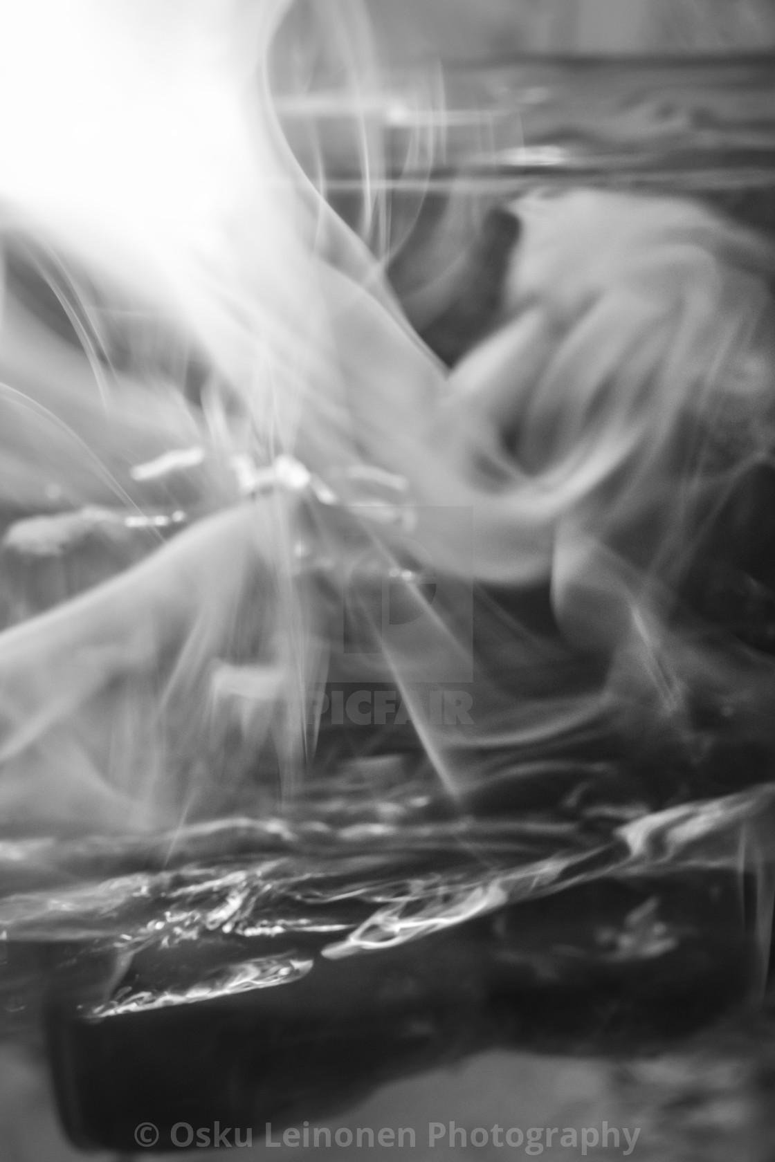 """""""Rushing Water IV (Smoke)"""" stock image"""
