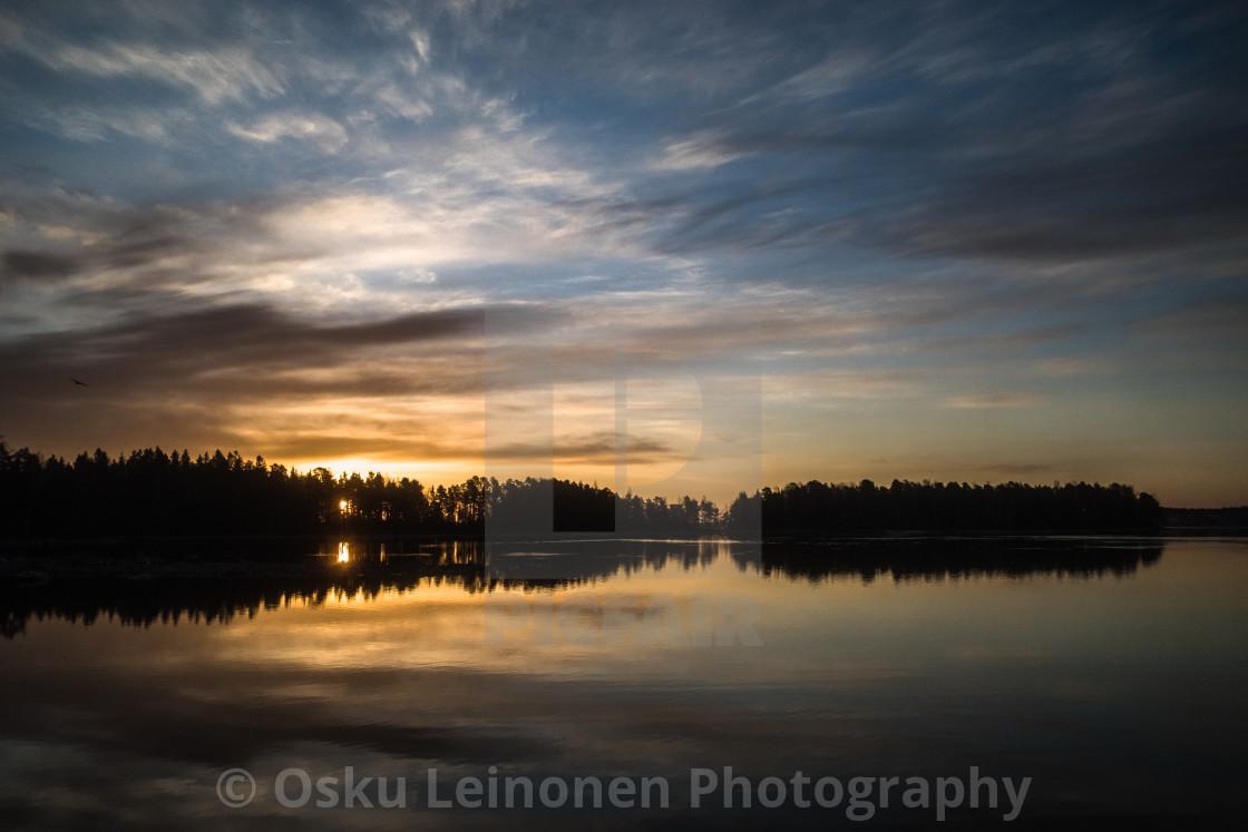 """""""Sunrise III (Näsijärvi)"""" stock image"""