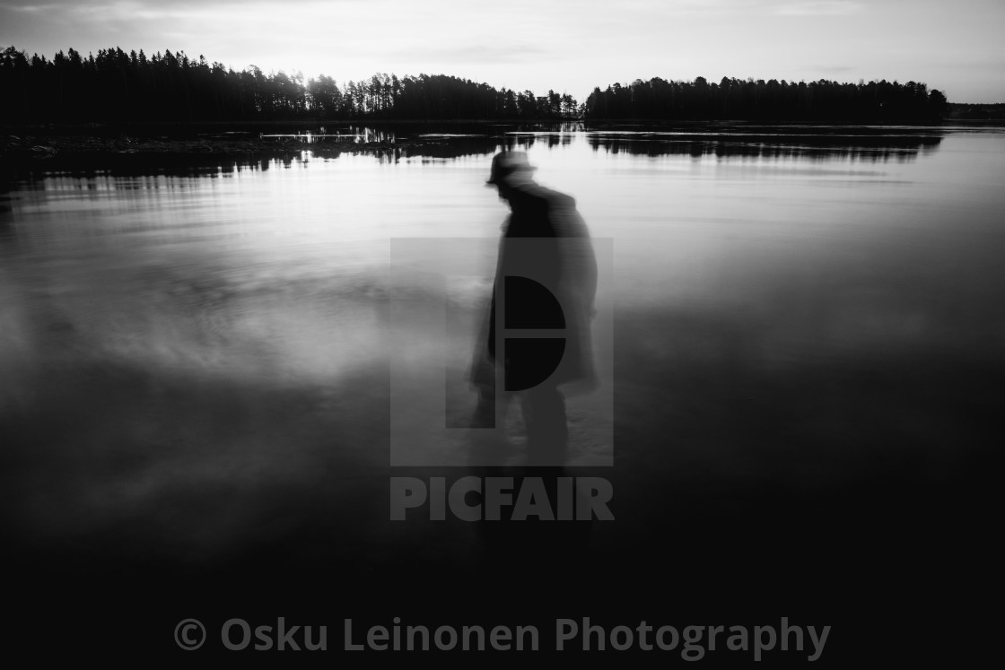 """""""Stepping Into The Water III (Resilience)"""" stock image"""