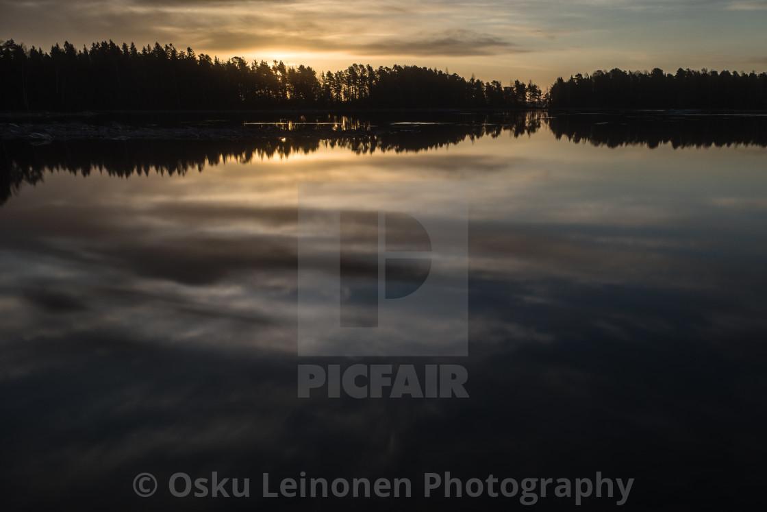 """""""Sunrise V (Näsijärvi)"""" stock image"""