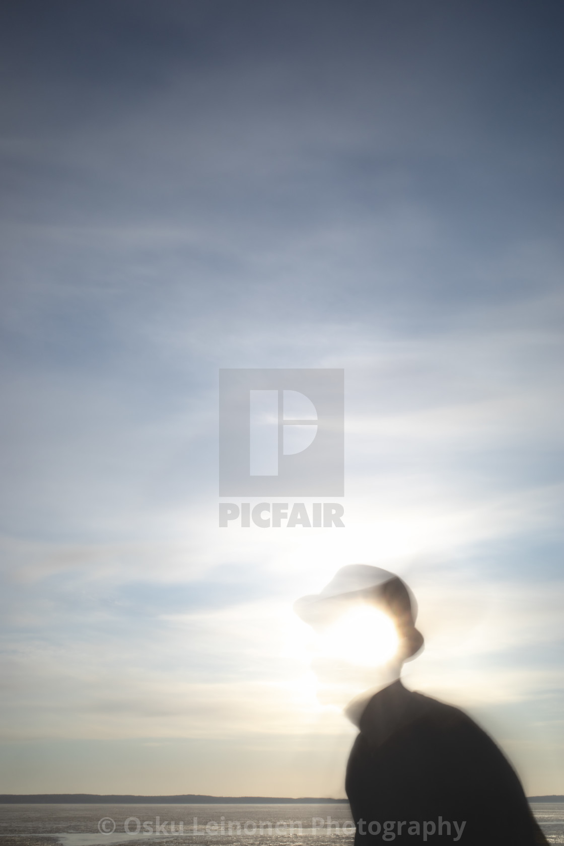 """Steps Together With Sun II (Sun And Face)"" stock image"