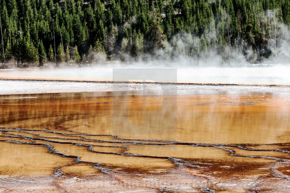 """Yellowstone National Hot Pool"" stock image"