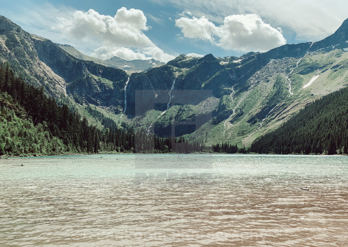 """Avalanche Lake - Glacier National Park"" stock image"