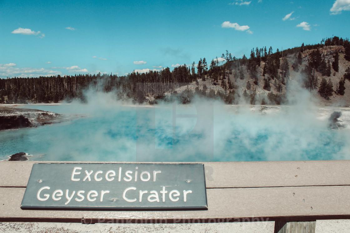 """Excelsior Geyser Crater"" stock image"