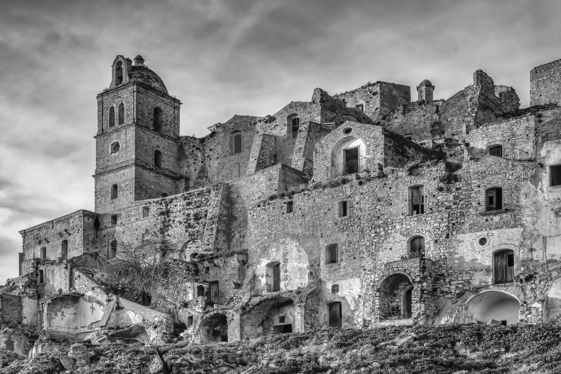 """The ghost town of Craco"" stock image"