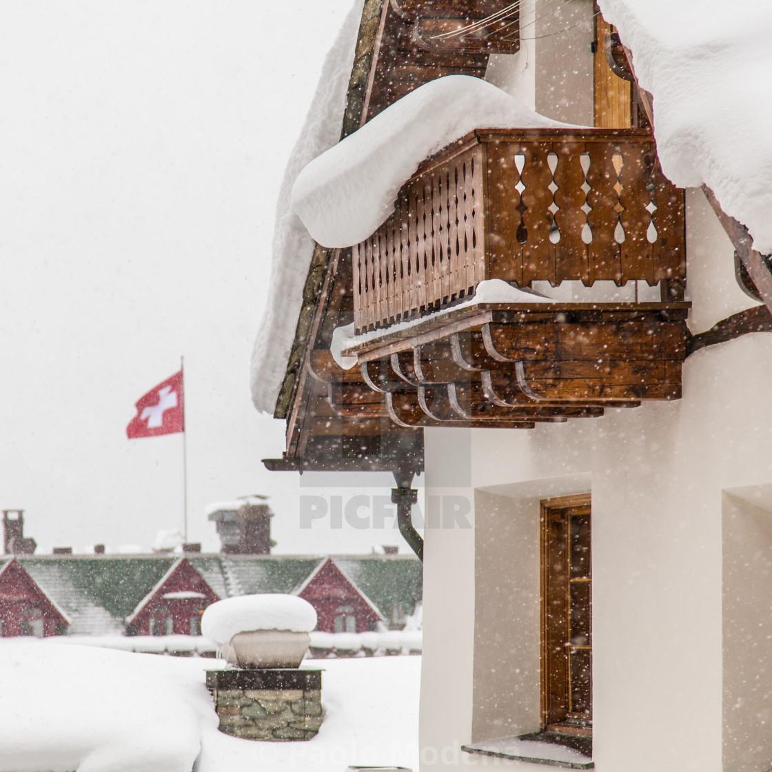 """Swiss chalet"" stock image"