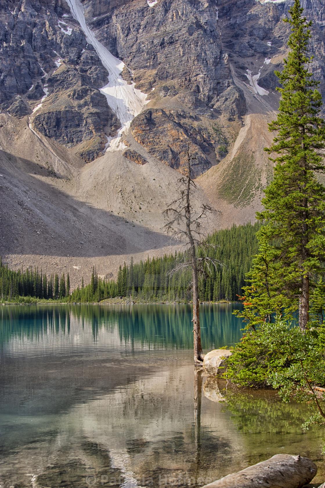 """Colorful Lake Moraine"" stock image"