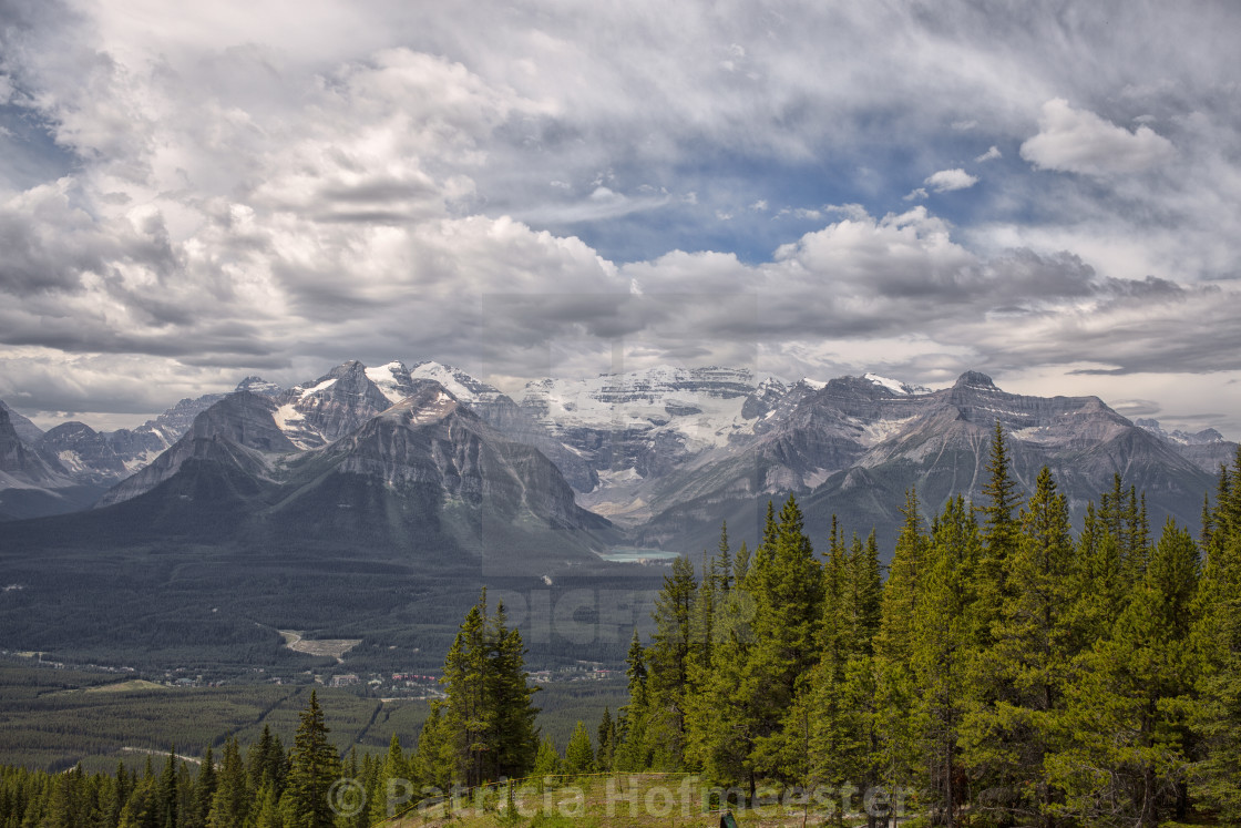 """View on Lake Louise from other side"" stock image"