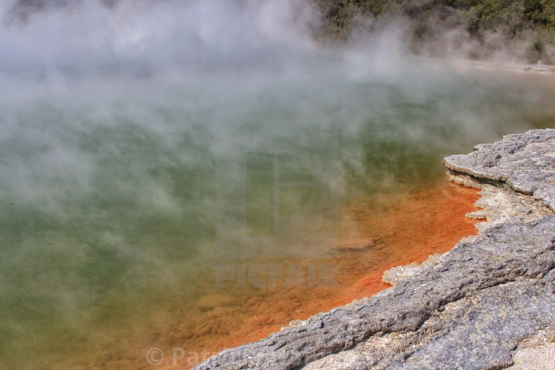 """Champagne Pool, New Zealand"" stock image"