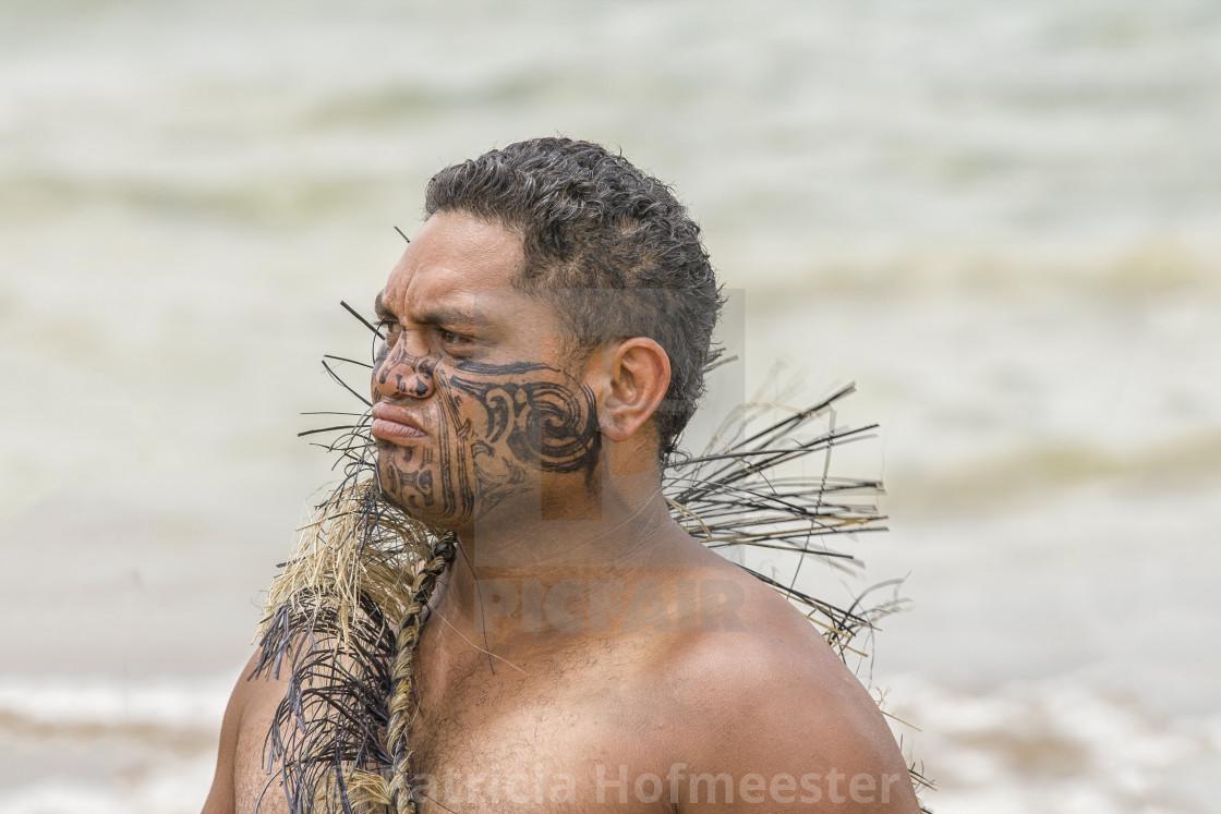 """Proud Maori"" stock image"