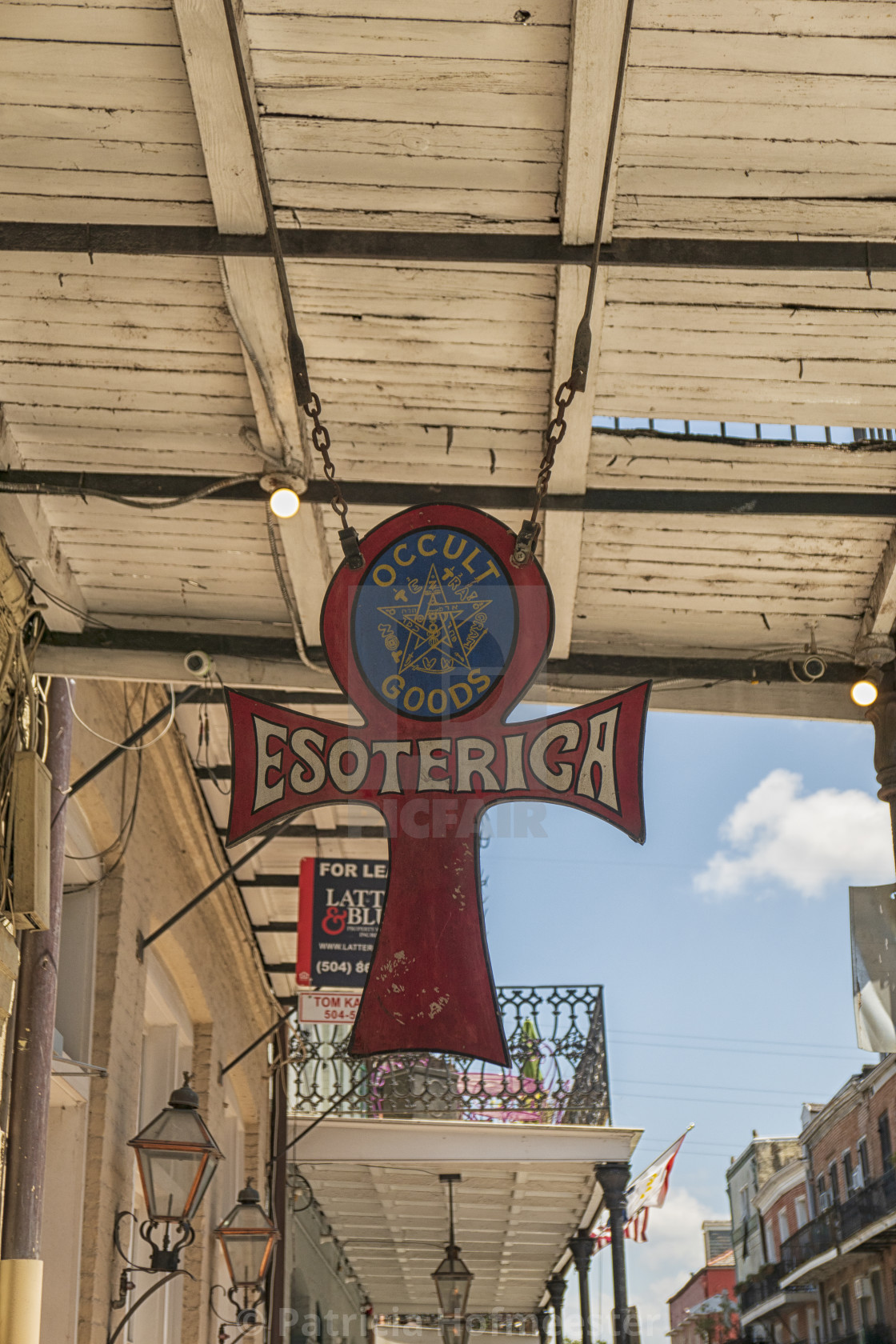 """""""Esoterica shop sign"""" stock image"""