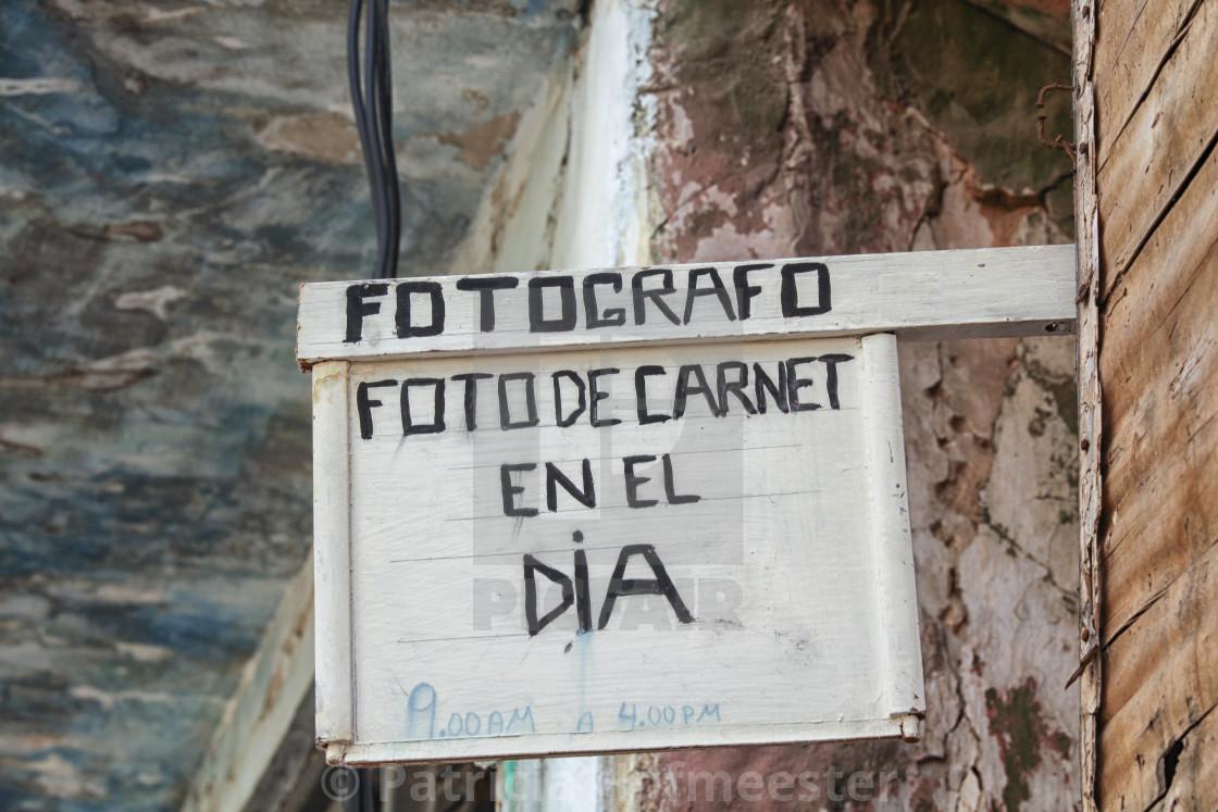 """Photographer in Cuba"" stock image"