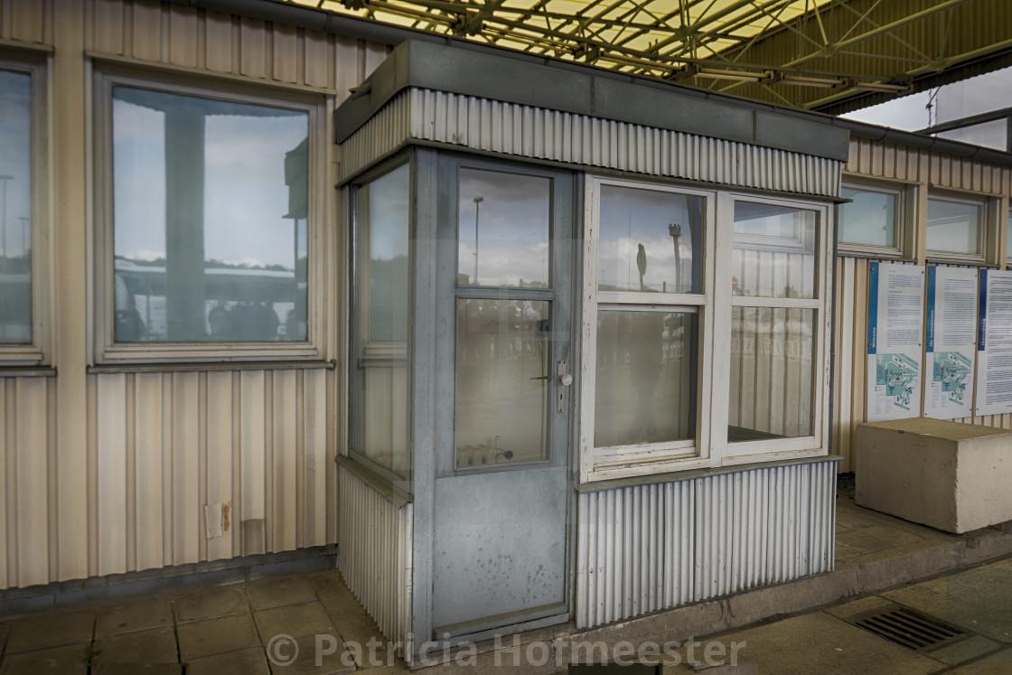 """Custom booth at Marienborn"" stock image"