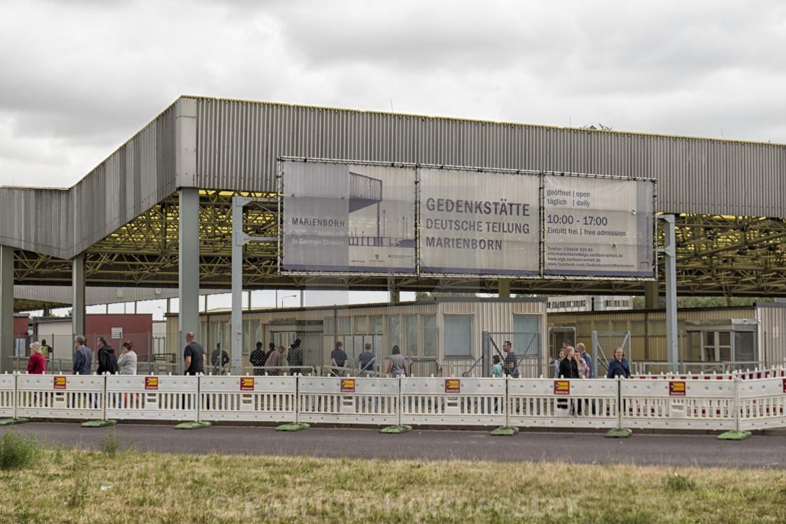 """Marirenborn memorial to German Division entrance"" stock image"