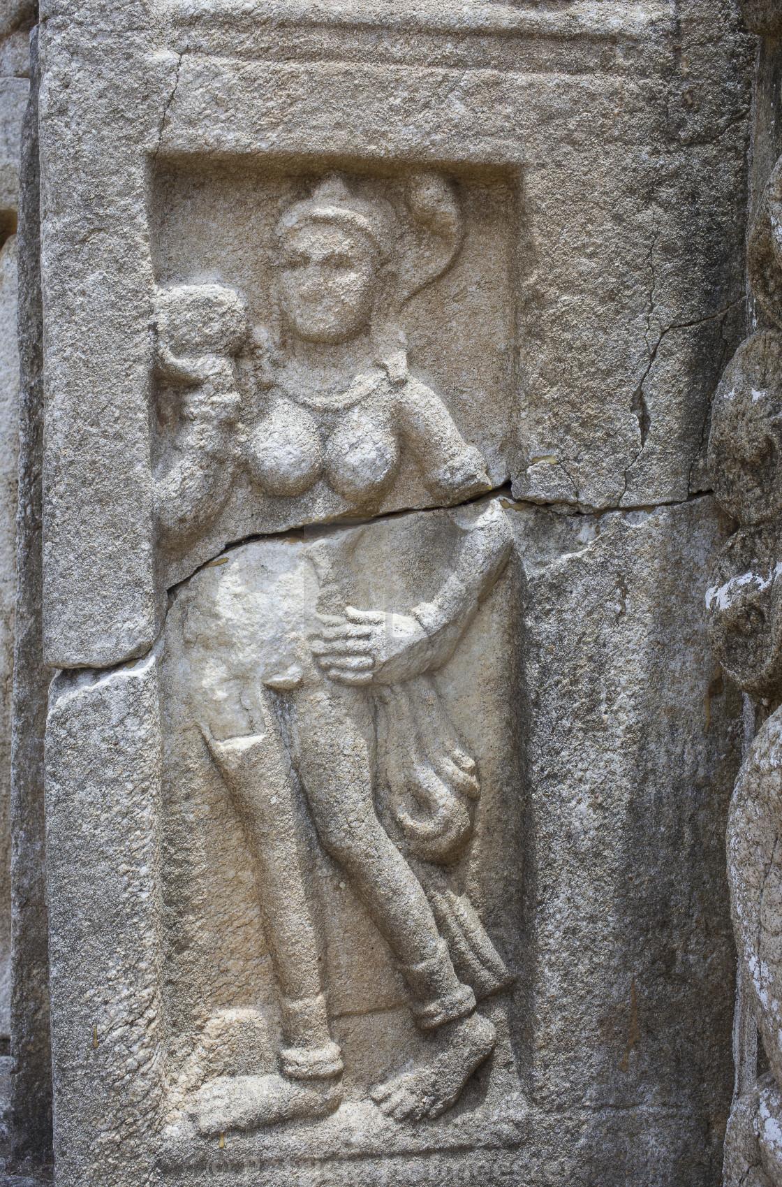 """Bass-Relief at Jetavana Dagoba, Sri Lanka"" stock image"