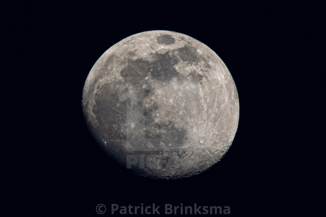 """Almost Full Moon"" stock image"