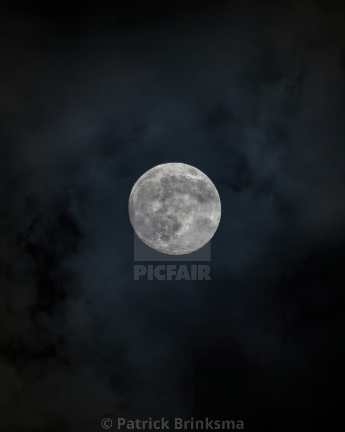 """""""Moon In Clouds"""" stock image"""