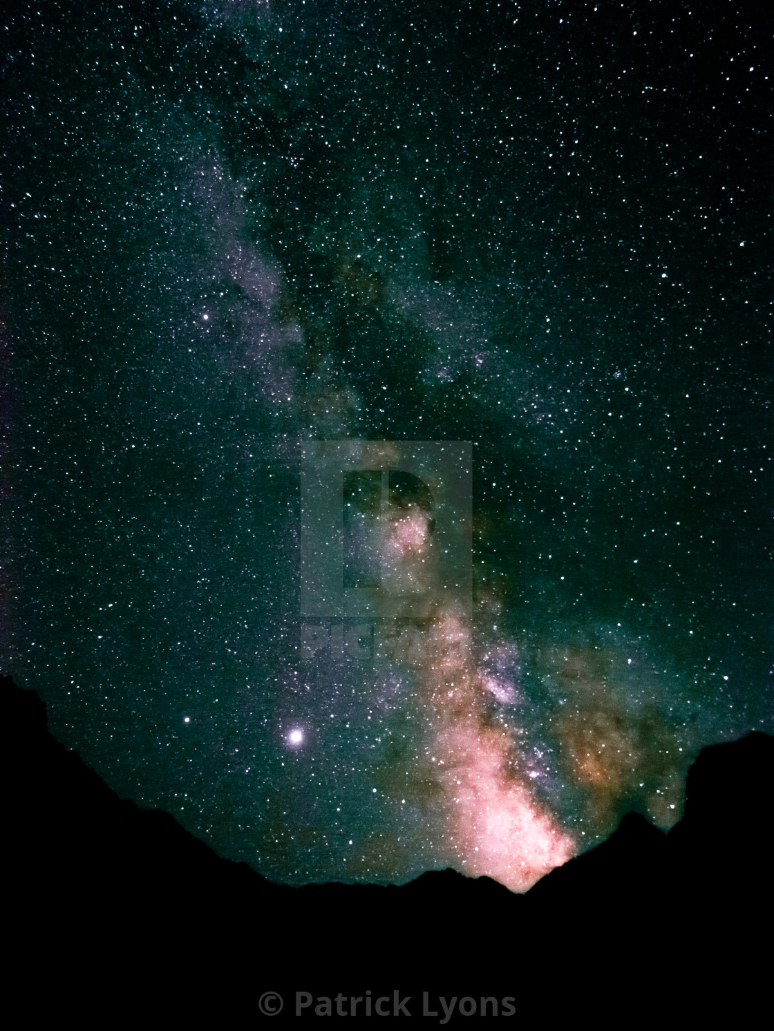 """""""Milky way above the Eastern Sierras in the Inyo National Forest"""" stock image"""