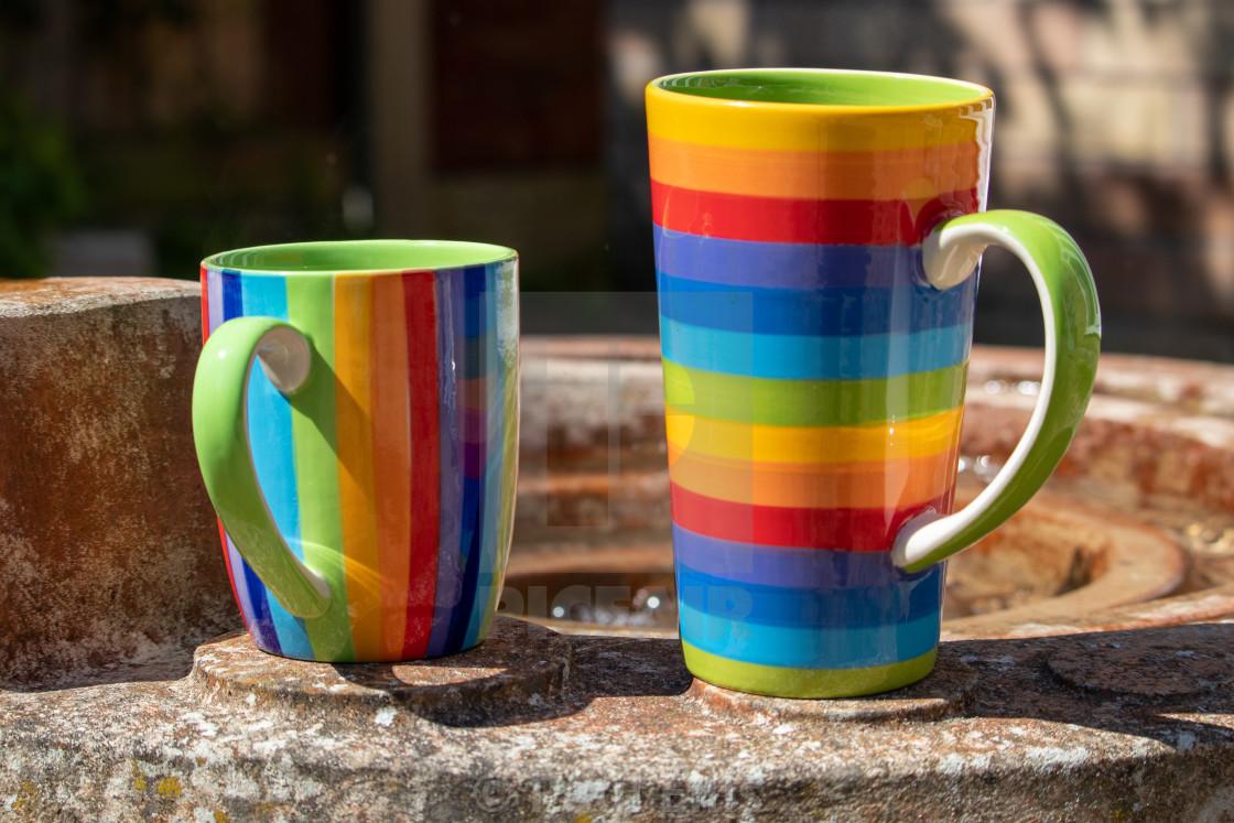 """Colourful Mugs"" stock image"