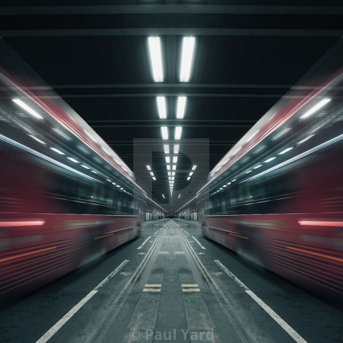 """Beech Street Tunnel Long Exposure"" stock image"