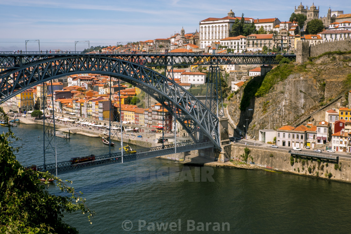 """Porto Old Town and Ponte Luis"" stock image"