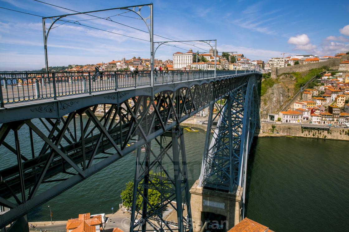 """Ponte Luis - top deck. Porto."" stock image"