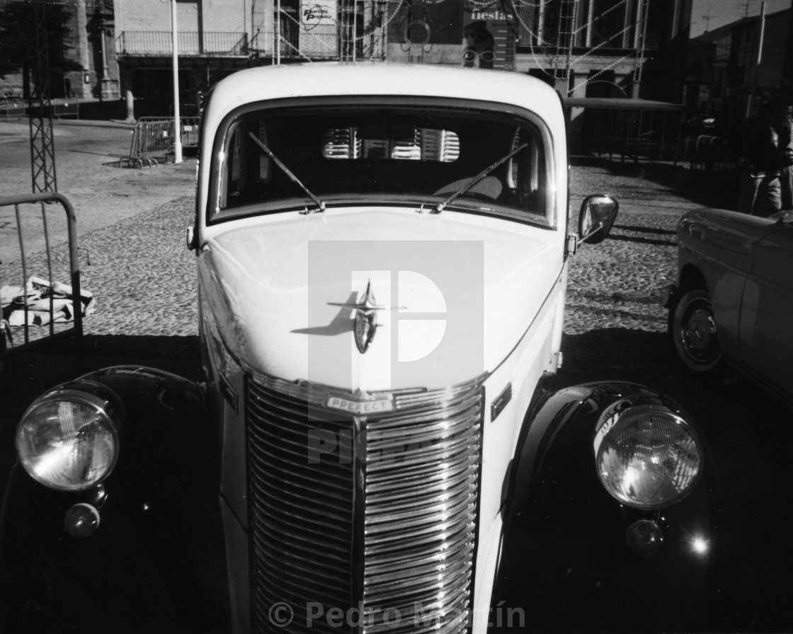 """""""Classic car's rally at Peñaranda, Salamanca, Spain"""" stock image"""