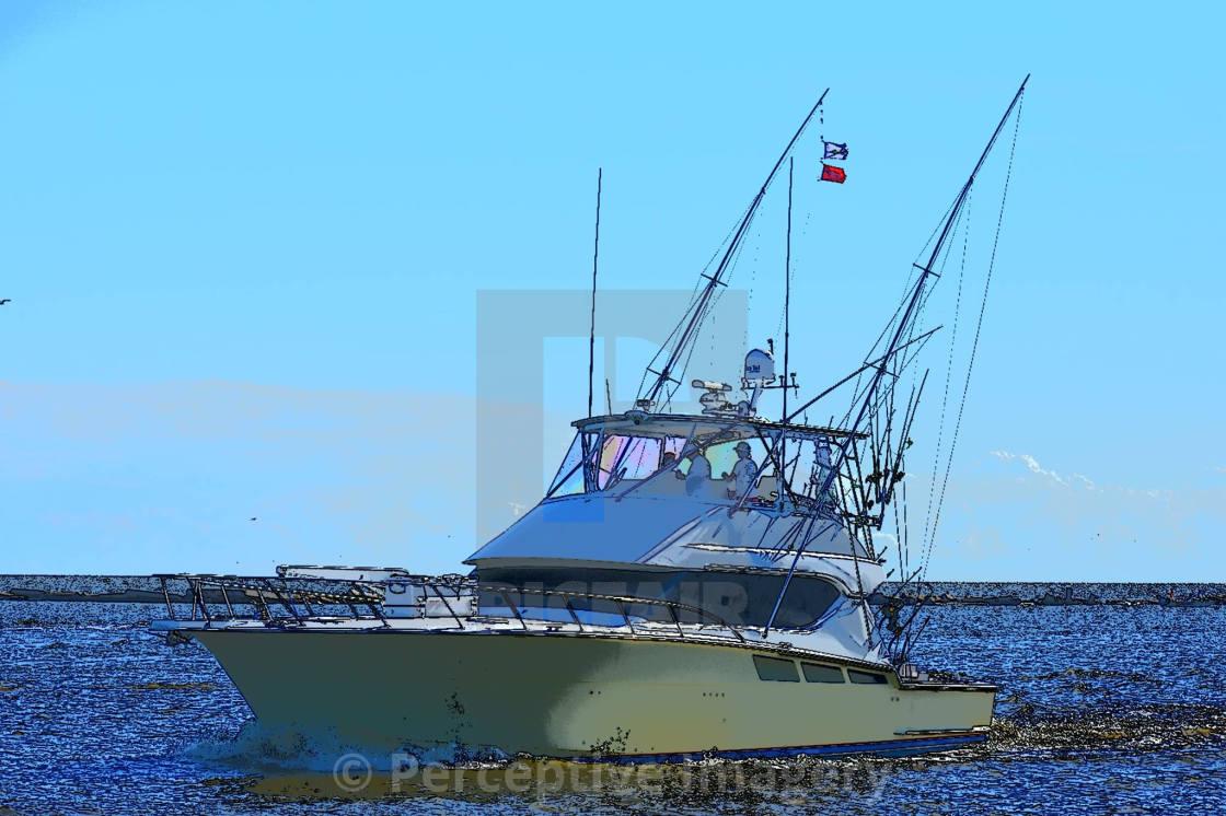 """""""Fishing Biloxi"""" stock image"""