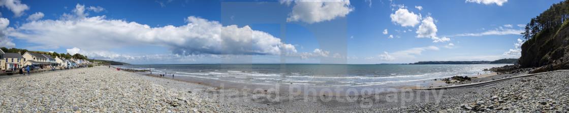 """""""Amroth Beach Panoramic"""" stock image"""