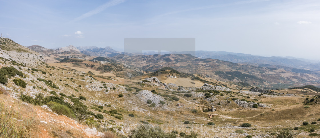 """El Torcal de Antequera , Karstic mountain nature reserve"" stock image"