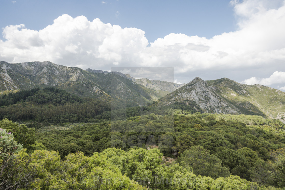 """Mountain range at Ojen, Andalusia, Spain."" stock image"